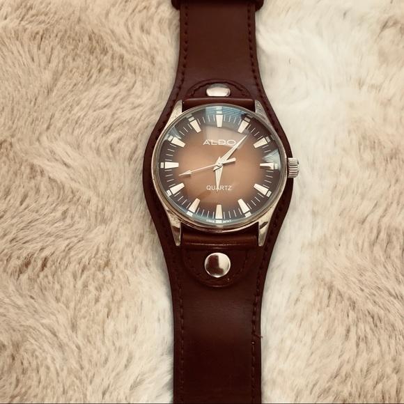 830639b0d Aldo Accessories | Mens Dark Brown Wristwatch | Poshmark